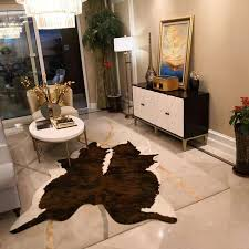 brown cowhide rug faux cowhide rugs