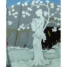 decorative mirror etched glass