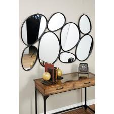 oval mirrors wall decor