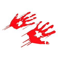 2x Red Bloody Vampire Hand Print Vinyl Car Decal Zombie Horror Funny Sticker Archives Statelegals Staradvertiser Com