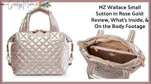 mz wallace rose gold small sutton