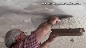 how to fix drywall removing popcorn