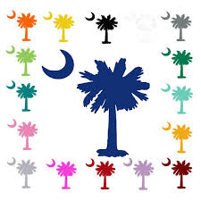 South Carolina Palmetto Tree And Moon Vinyl Decal Sticker Palmetto Tree Moon Decal Vinyl Decals