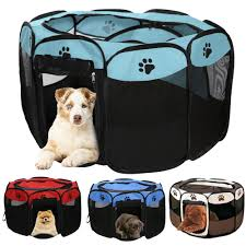Clearance Sale Pet Tent Fence Playpen Tunnel Dog House Portable Folding Rectangular Cat Ca16 July