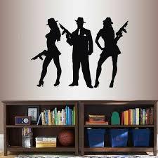 Mafia 007 Gang Gangster Wall Art Sticker Decal Brown For Sale Online Ebay