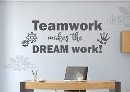 Teamwork Decal Office Wall Decal Teamwork Makes The Dream Work Workspace Art Teamwork Wall Decal