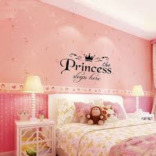 Removable Princess Sleeps Here Wall Stickers Art Vinyl Decals Girls Room Decoration Wish