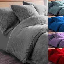 fleece duvet quilt cover bedding