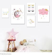 2020 Little Princess Canvas Children Poster Baby Nursery Wall Art Print Cloud Rainbow Painting Nordic Kids Bedroom Decoration Picture From Georgen 21 95 Dhgate Com