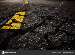 Crack textured asphalt road background. — Stock Photo © RteeNattapong  #171139618