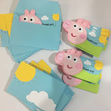 Peppa Pig Birthday Party Peppa Pig Thank You Thank You Cards