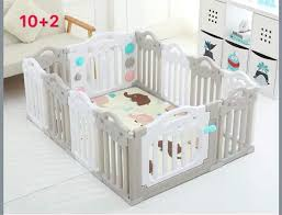 Baby Play Fence Playpen Thicker Gray Locks 12s Lazada Ph