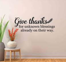 Give Thanks Wall Decal Sticker Give Thanks Wall Stickers