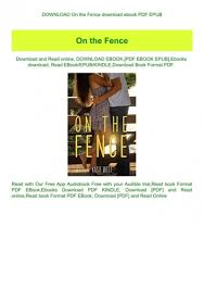 Download On The Fence Download Ebook Pdf Epub