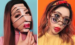 makeup artist transforms her face into