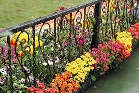 40 Beautiful Garden Fence Ideas Wrought Iron Fences Garden Fencing Iron Fence