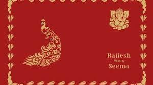 dekho sikho corel wedding card