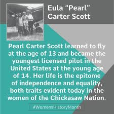 Pioneering pilot Eula Pearl Carter Scott... - The Chickasaw Nation |  Facebook