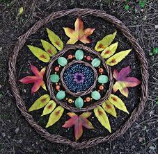 Beautiful land art mandala made from natural materials - great way ...