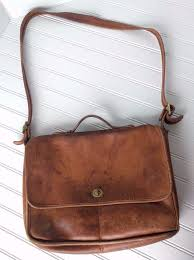 vintage coach briefcase messenger bag