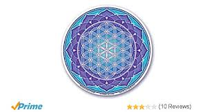 4 5 Double Sided Mandala Arts Colorful Decal Window Sticker S56 Flower Of Life By Bryon Allen