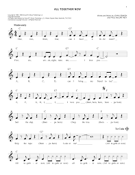 All Together Now Sheet Music | The Beatles