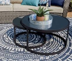 double round nested coffee tables