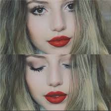 holiday red lip makeup tutorial beauty