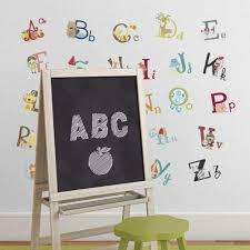 Branded Big Graphic Alphabet Letters Kids Room Nursery Wall Decal Stickers Home Decor
