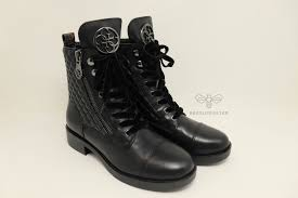 guess nia leather combat boot