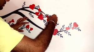 How To Apply Wall Stickers On The Wall Self 2016 Youtube