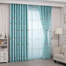 Lovely Rainbow Kids Curtains For Boys Girls Room Children Bedroom Door Window Curtain Panel Drapes Window Treatments Blue Pink Curtains Aliexpress
