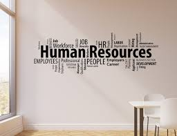 Vinyl Wall Decal Human Resources Hr Words Cloud Management Office Stic Wallstickers4you