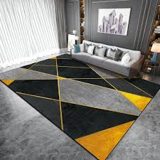 Black Yellow Geometric Carpet And Rug Nordic Style Living Room Kids Bedroom Bedside Non Slip Floor Mat Kitchen Bathroom Area Rug Frieze Carpet Discount Area Rugs From Griffith 18 59 Dhgate Com