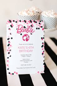 Barbie Birthday Party With Free Printable Barbie Designs Fiesta