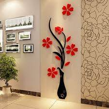 3d Plum Vase Wall Stickersreative Wall Living Room Entrance Painting Flowers For Room Hom Wall Stickers Home Decor Wall Decor Stickers Wall Decals Living Room