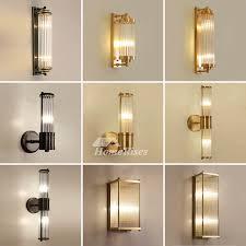 luxury wall lamp modern bedside gold 2