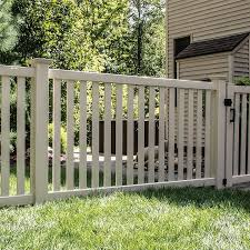 Freedom Actual 4 04 Ft X 7 56 Ft Ready To Assemble Terex Sand Vinyl Flat Top Vinyl Fence Panel Lowes Com In 2020 Vinyl Fence Vinyl Fence Panels Fence Panels