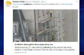 Scaffolder arrested for endangering his own life by working without  connecting his harness | WorldWide Weird News