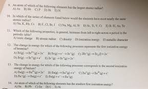 solved an atom of which of the
