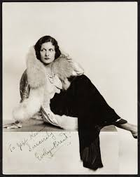 """Evelyn Brent by Russell Ball (1930s). Autographed Photo (7.5"""" X 