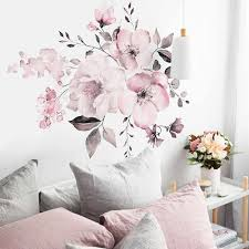 Pink Peony Vintage Wall Decal Vinyl Peel And Stick Removable Peonies Sticker Nursery Decor Girl Flower Art Home Decor Wall Stickers Aliexpress