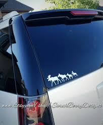 Moose On The Caboose Caboose Critters Window Decals Stick Figure Family Wyoming Back Window Sticker Yellowstone Jackson Hole Sarah Berry Designs