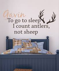 Lollipop Walls To Go To Sleep I Count Antlers Personalized Decal Zulily