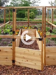 Raised Garden Bed 8 X8 Or 8 X12 With Deer Fence Kit Gardener S Supply In 2020 Garden Beds Cedar Raised Garden Beds Raised Garden Beds