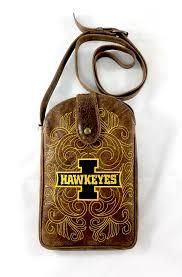 iowa hawkeyes black lgate purse by