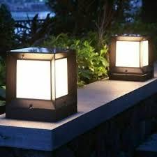 Modern Outdoor Path Lights Black Pillar Lamp Exterior Fence Entrance Post Lights Ebay