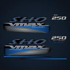 2006 2013 Yamaha 250 Hp Sho Vmax Decal Set Blue Outboard Decals 2007 2008 2009 2010 2011 2012 2013 Stickers Custom Garzonstudio Com