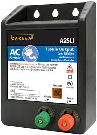 Amazon Com Zareba A25li Ac Powered Low Impedance 25 Mile Fence Charger Livestock Equipment Garden Outdoor