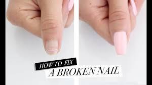 how to fix a broken nail diy acrylic